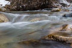 河小的瀑布 免版税库存照片