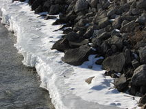 河岩石 库存图片