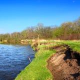 河岸侵蚀伊利诺伊 库存图片