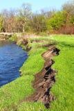 河岸侵蚀伊利诺伊 免版税图库摄影