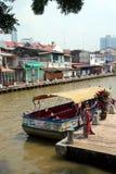 河岸在Melaka 免版税库存照片