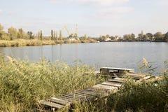 河岸,河风景 库存图片
