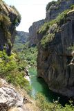 河峡谷西班牙 免版税图库摄影
