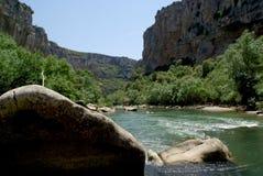 河峡谷西班牙 免版税库存照片