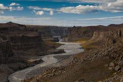 河峡谷 免版税库存图片