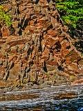 河峭壁 库存图片