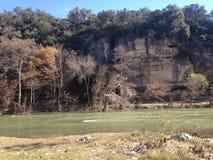 河峭壁 库存照片