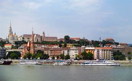 河布达佩斯匈牙利视图都市风景  免版税库存照片