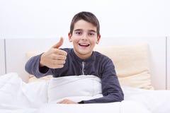 河床儿童位于 免版税图库摄影