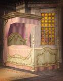 河床卧室闪亮指示晚上一唯一葡萄酒 免版税图库摄影