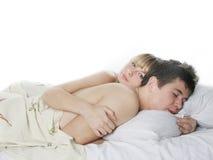 河床夫妇年轻人 免版税图库摄影
