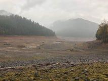 河床干盐湖 免版税库存图片