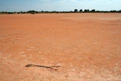 河床干盐湖 库存图片