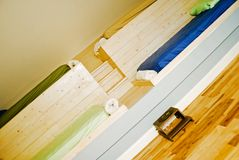 河床床铺儿童居室 库存图片