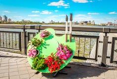 河床接近的花彼得斯堡俄国圣徒 免版税图库摄影