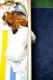 河床的婴孩休眠放置的现有量 免版税图库摄影