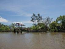 河床队三角洲的看法,阿根廷 库存图片
