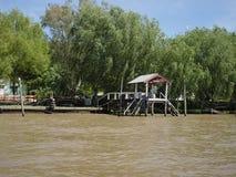 河床队三角洲的看法,阿根廷 库存照片