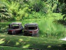 河徒步旅行队主题乐园在新加坡 免版税库存照片