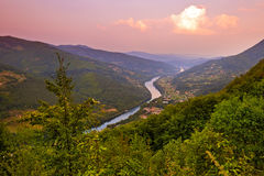 河德里纳河-全国自然公园在塞尔维亚 免版税图库摄影