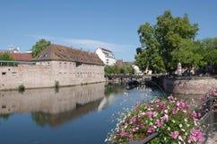 河恶意的史特拉斯堡,法国的浪漫看法 免版税图库摄影