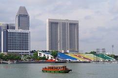 河新加坡视图 免版税图库摄影