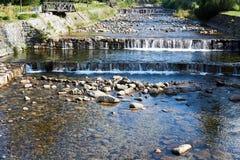 河易北河的小瀑布 图库摄影