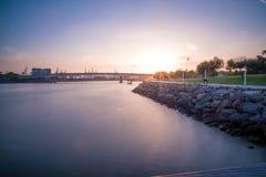 河是镇静的 库存图片