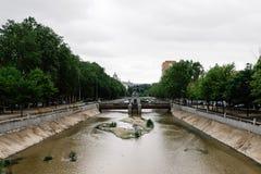河曼萨纳雷斯风景看法在马德里 免版税库存照片