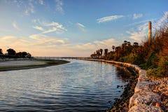 河末端 库存图片