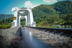 河桥梁铁路 库存图片