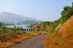 河桥梁 免版税图库摄影