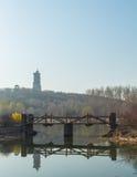 河桥梁 免版税库存照片