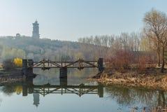 河桥梁 库存图片