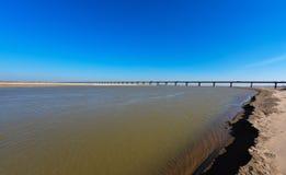 黄河桥梁 库存照片