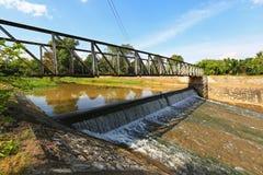 河水坝 免版税图库摄影