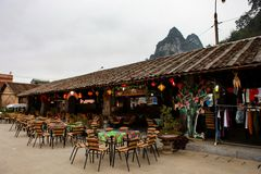 河江市,越南, 2017年1月01日东范town,河江市省 库存图片