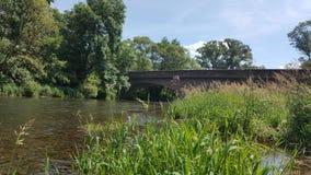 河沈默自然桥梁 免版税库存图片