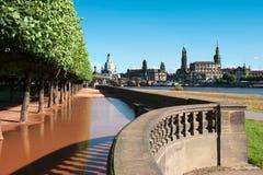 河沿公园在德累斯顿,德国 库存图片