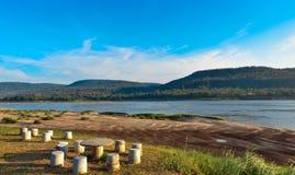 河沿北部泰国 库存图片