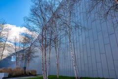 河沿博物馆格拉斯哥,苏格兰 博物馆有展览以前在运输博物馆 图库摄影