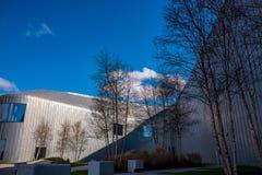 河沿博物馆格拉斯哥,苏格兰 博物馆有展览以前在运输博物馆 免版税库存照片