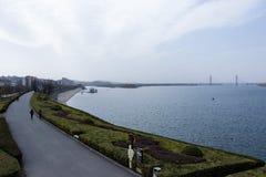 河沿在从AL的襄阳 免版税库存照片