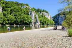 河沿多瑙河峡谷 免版税图库摄影
