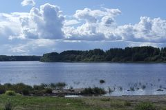 河沿风景 库存图片