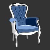 河沿巴洛克式的皇家扶手椅子 免版税库存图片