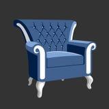 河沿巴洛克式的皇家扶手椅子 图库摄影