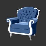 河沿巴洛克式的皇家扶手椅子 免版税图库摄影