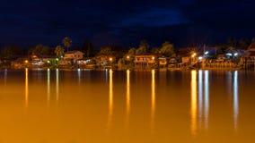 河泰国样式风景房子 库存图片