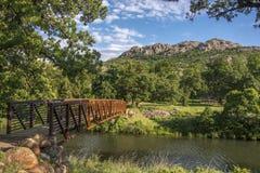 河流桥渡 库存图片